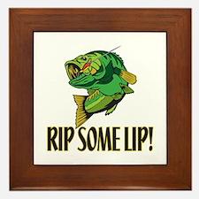 Rip Some Lip Framed Tile