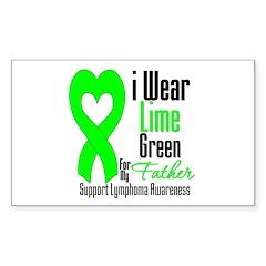 Lymphoma Heart Father Rectangle Sticker 10 pk)