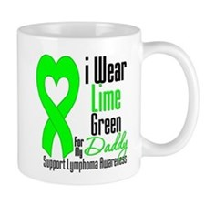 Lymphoma Heart Daddy Mug