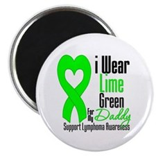 Lymphoma Heart Daddy Magnet
