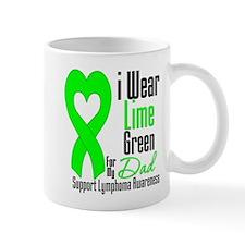Lymphoma Heart Dad Mug