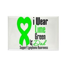 Lymphoma Heart Dad Rectangle Magnet (10 pack)
