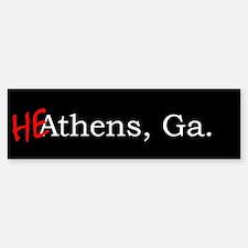 HeAthens bumper sticker