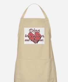 Dina broke my heart and I hate her BBQ Apron