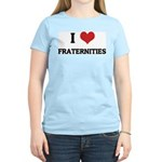 I Love Fraternities Women's Pink T-Shirt