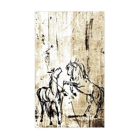 Equine Art Rectangle Sticker