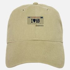 "I ""Heart"" 69 License Plate Baseball Baseball Cap"