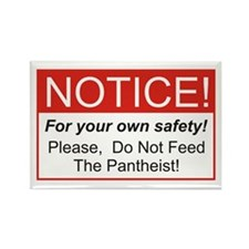 Notice / Pantheist Rectangle Magnet