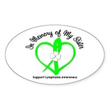 Lymphoma Memory Sister Oval Decal