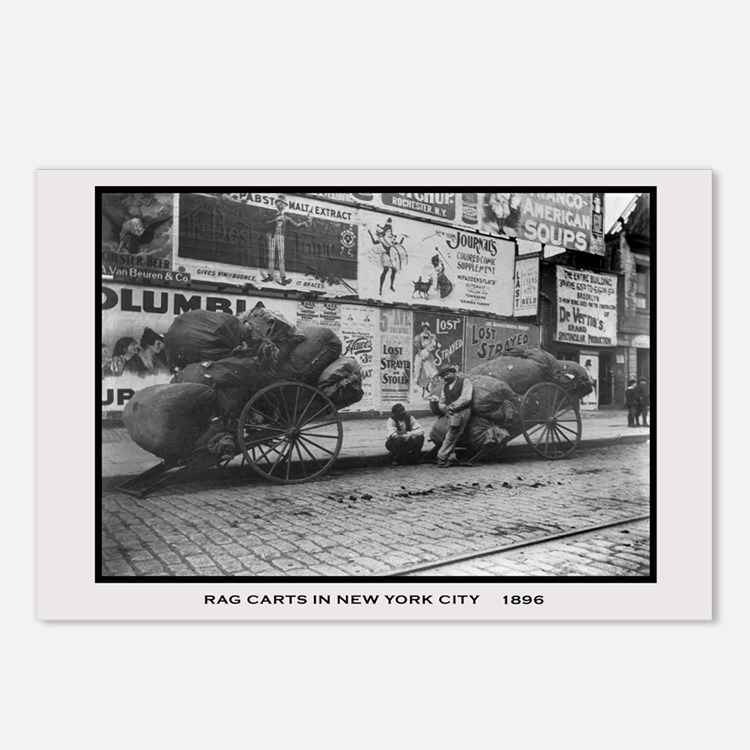 Rag Carts in New York City Postcards (Package of 8
