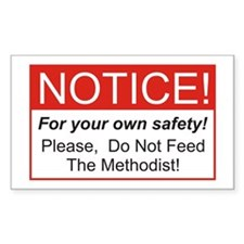 Notice / Methodist Rectangle Decal