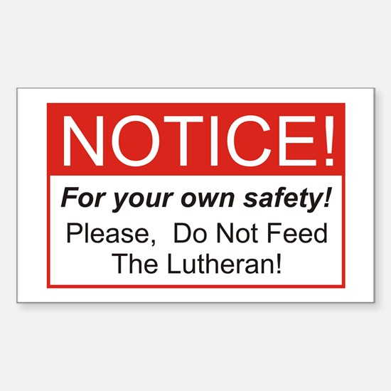 Notice / Lutheran Rectangle Decal