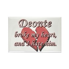 Deonte broke my heart and I hate him Rectangle Mag