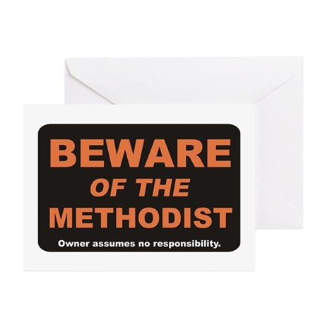Beware / Methodist Greeting Cards (Pk of 10)