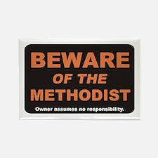 Beware / Methodist Rectangle Magnet
