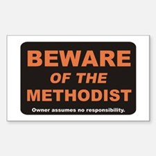 Beware / Methodist Rectangle Decal
