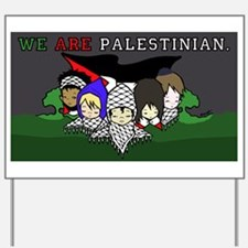 Cute Palestinian Yard Sign
