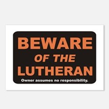 Beware / Lutheran Postcards (Package of 8)