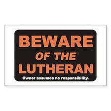 Beware / Lutheran Rectangle Decal