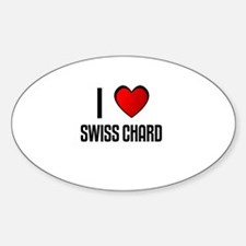 I LOVE SWISS CHARD Oval Decal