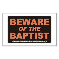 Beware / Baptist Rectangle Decal