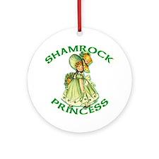 Shamrock Princess Irish Ornament (Round)