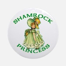 Shamrock Princess Irish Ornament (Round)