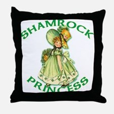 Shamrock Princess Irish Throw Pillow