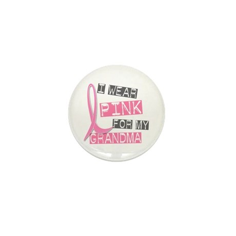 I Wear Pink For My Grandma 37 Mini Button (10 pack