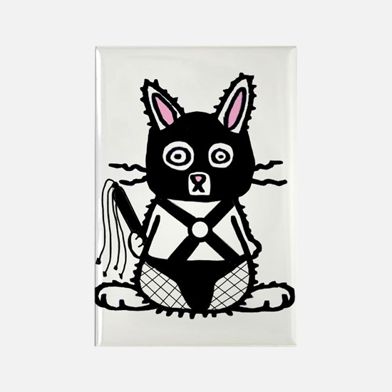 BDSM Bunny Rectangle Magnet