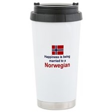 Happily Married To A Norwegian Travel Mug