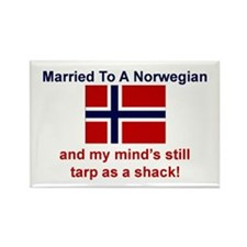 Married To A Norwegian Rectangle Magnet