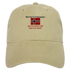 Married To A Norwegian Baseball Cap