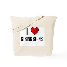 I LOVE STRING BEANS Tote Bag