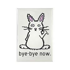 Bye-Bye Bunny Rectangle Magnet