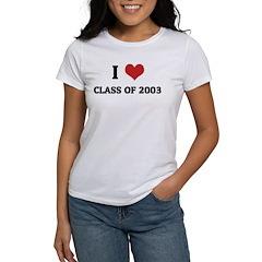 I Love Class Of 2003 Women's T-Shirt