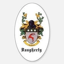 Daugherty Coat of Arms Oval Decal