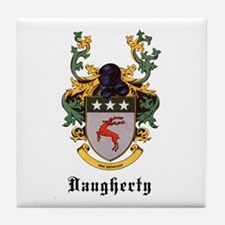 Daugherty Coat of Arms Tile Coaster