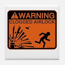 Airlock Warning Tile Coaster