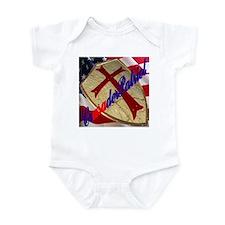 CrusaderPatriot/Shield & Flag Infant Bodysuit