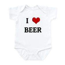 I Love BEER Infant Bodysuit