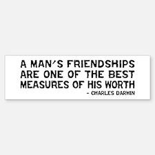 Quote - Darwin - Worth Bumper Bumper Bumper Sticker
