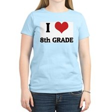 I Love 8th Grade Women's Pink T-Shirt