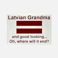 Good Looking Latvian Grandma Rectangle Magnet