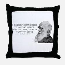 Darwin - Face - Stone Throw Pillow