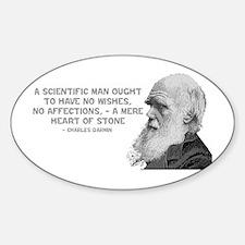 Darwin - Face - Stone Oval Decal