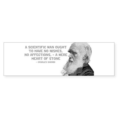 Darwin - Face - Stone Bumper Sticker