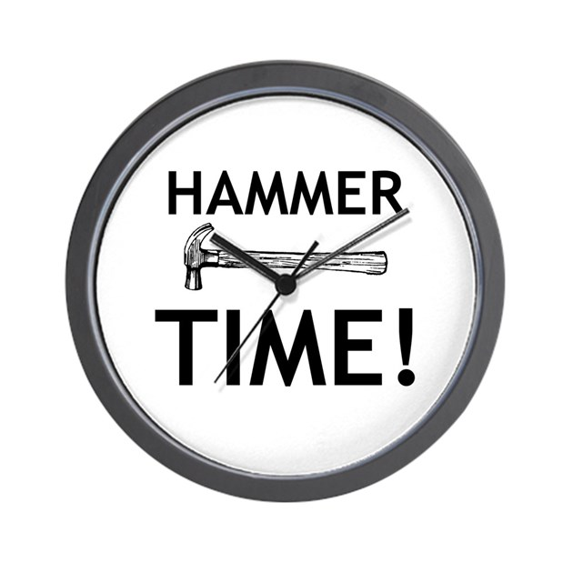 Hammer Time! Wall Clock by Stuffman73