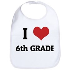 I Love 6th Grade Bib
