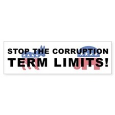 Stop Corruption - Term Limits 2 Car Sticker